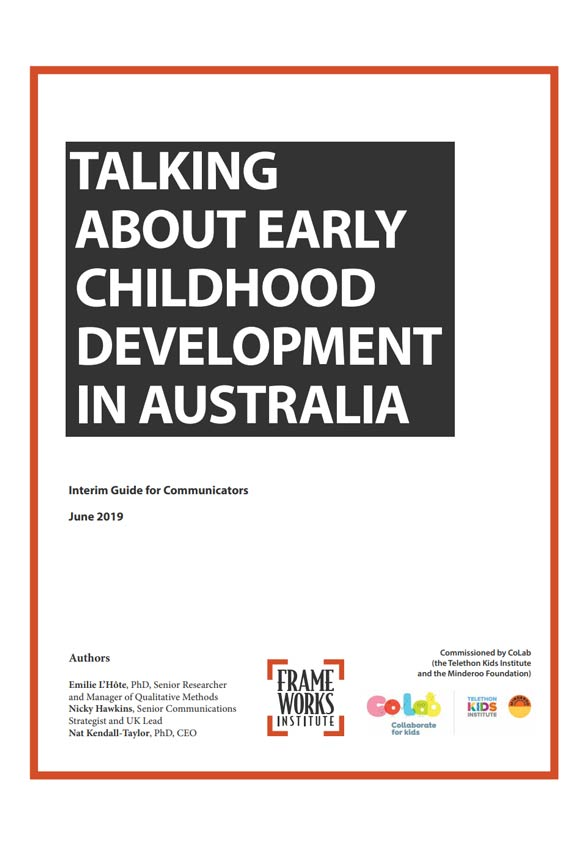 Talking about Early Childhood Development in Australia