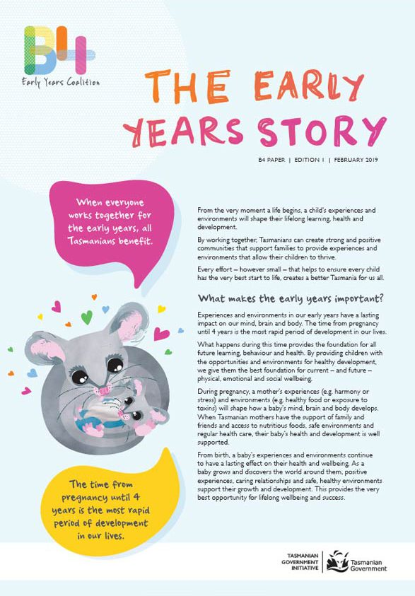 The Early Years Story brochure
