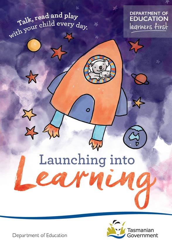 Launching into Learning postcard
